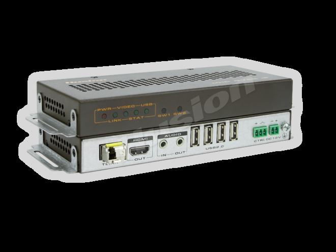Husion HS-UHD-F/10KRx-A-k2 UHD KVMA 光纖接收器