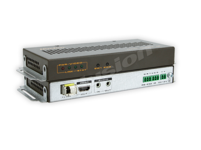 Husion HS-UHD-F/10KRx-ASI UHD AVC 光纖接收器