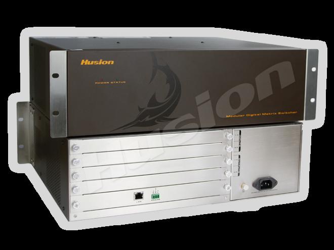Husion HDC 800 4埠插卡式混合訊號矩陣主機(8x8)