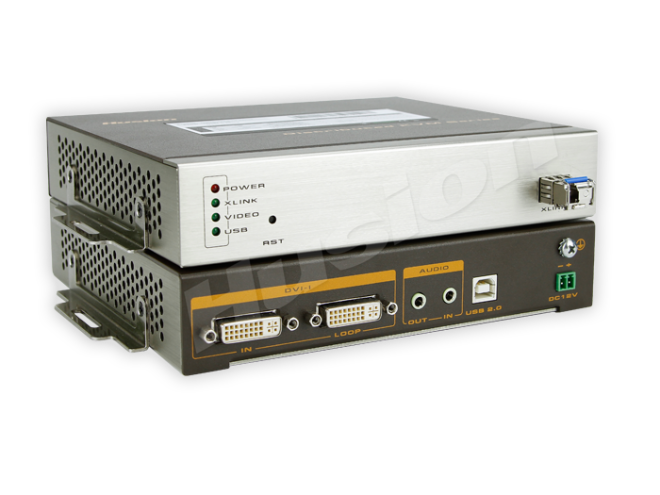 Husion HS-MULF-F/TX-A-K 多格式 光纖 KVM 編碼器