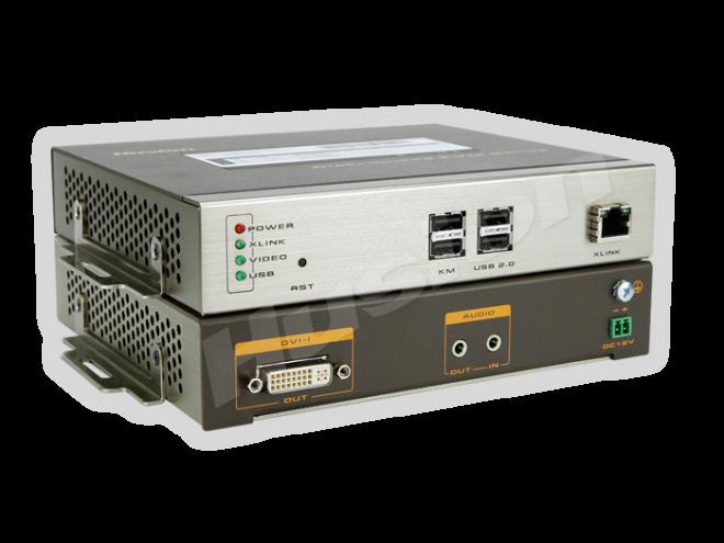 Husion HS-UHD-C/RX-A-K2 UHD 網路 KVM 解碼器