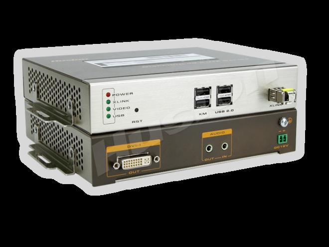 Husion HS-MULF-F/RX-A-K2 多格式 光纖 KVM 解碼器