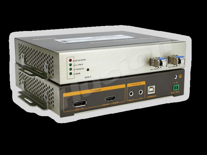 Husion HS-DP-D-F/TX-A-K DP 光纖 網路 KVM 編碼器