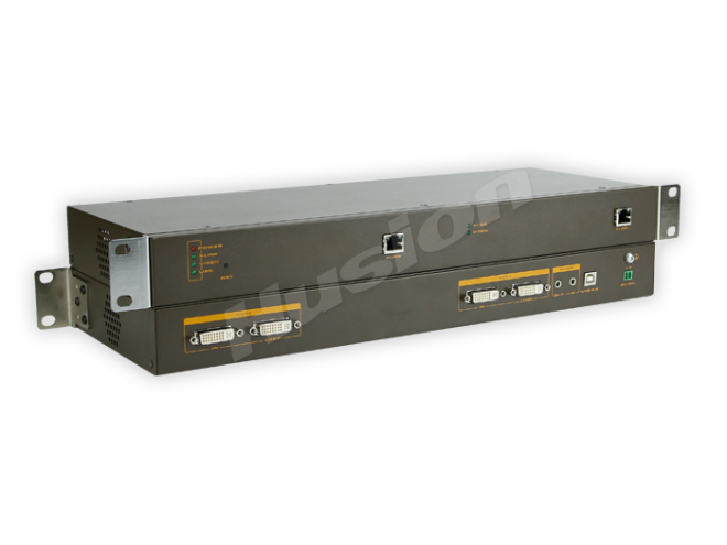 Husion HS-dMULF-C/TX-A-K 雙頭多格式 網路 KVM 編碼器